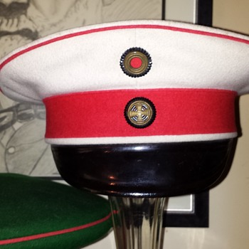 visor cap of a reserve officer of the Prussian Garde du Corps or the Prussian 4th cuirassier Regiment