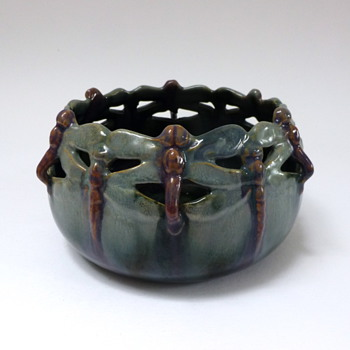 Dragonfly bowl - Art Nouveau