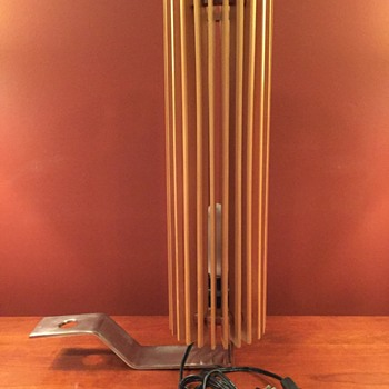 Wood slat lamp