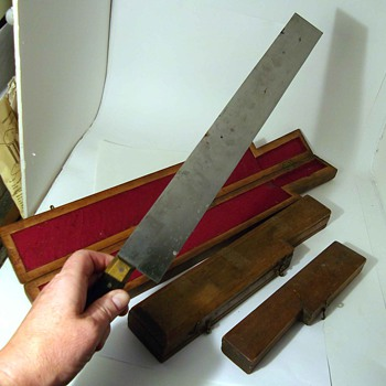 SQUARE KNIFE SET UNKNOWN MAKER~ WCN NARKIEWIC ??