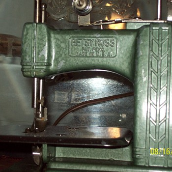 this betsy ross sewing machine still has kick/the lost info onjax - Sewing