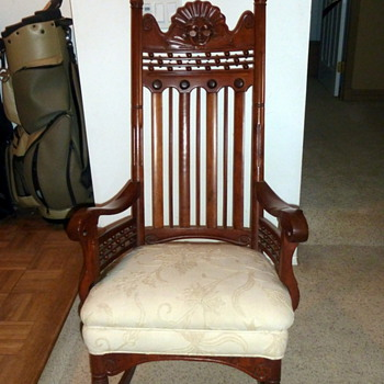 Great Grandma's Rocking Chair, made by Great Grandpa