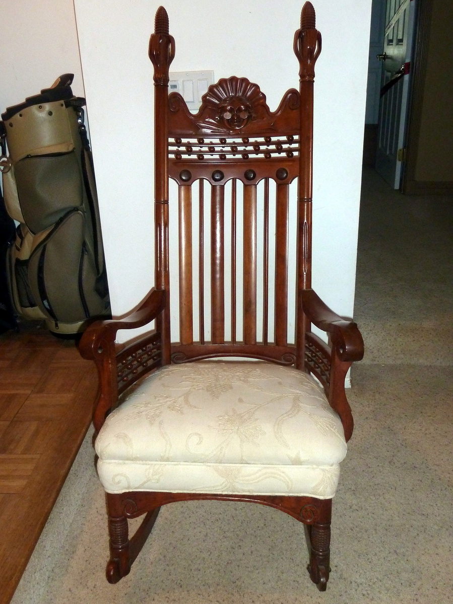 Great grandma s rocking chair made by grandpa
