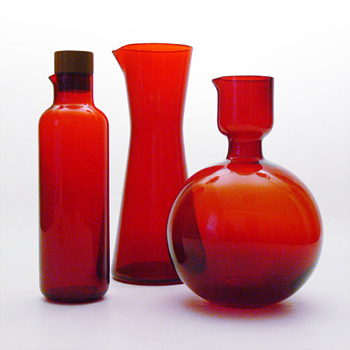 3 jugs by Klaus Breit (Wiesenthalhtte, 1959, 1957, 1968) - Art Glass