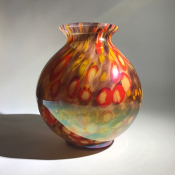 Kralik Iris Ball Vase - Art Glass