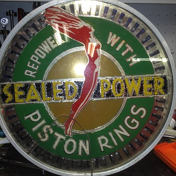 my restored sealed power spinner sign - Signs