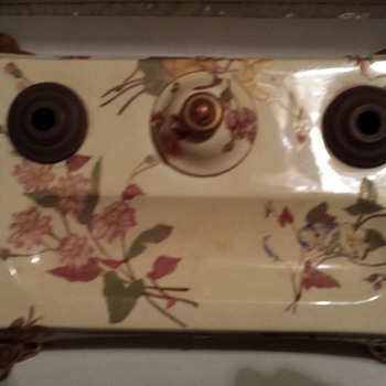 Royal Worcester Inkwell