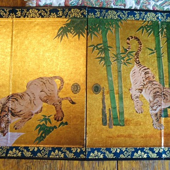 "Price	Qty	Total # 13744739 - ""Watering Tigers"" Miniature Folding Screen	$5.00	1	$5.00 - Asian"
