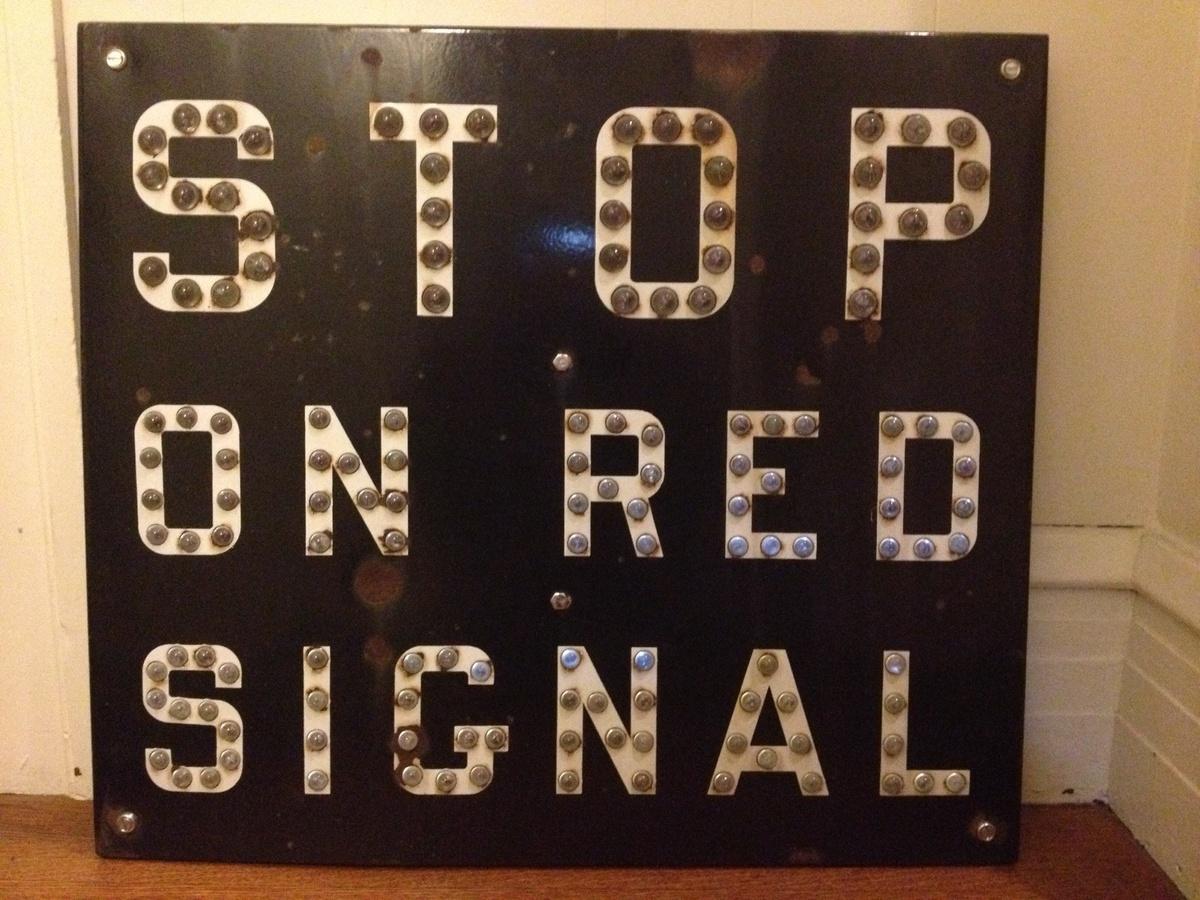 Cat Eye Railroad Crossing Sign Cat Eye Railroad Stop on Red