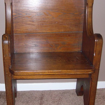 """Deacons Seat"" in Solid Oak - Furniture"