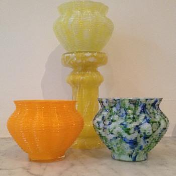 Orphan Welz jardinière bowls - Art Glass