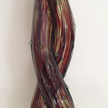 Large double thorn vase - Art Glass