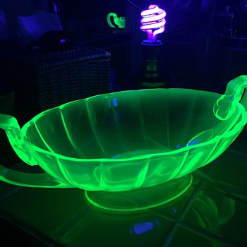 New Find - Vaseline/Uranium Glass bowl