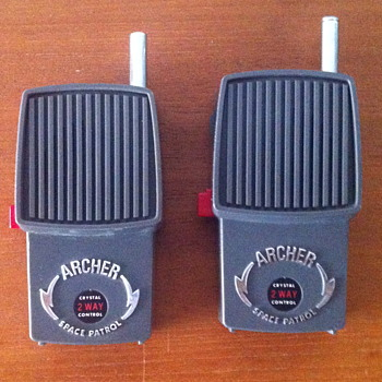 Archer crystal 2 way control space patrol walkie talkies.