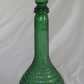 Empoli Glass - Green Decanter