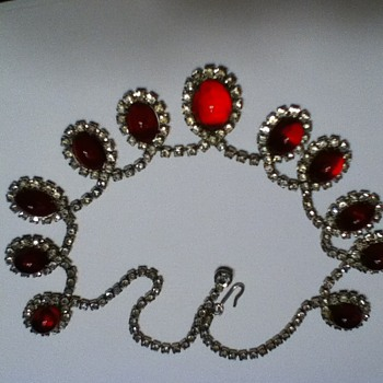 Moms Beautiful red Kramer Necklace - Costume Jewelry