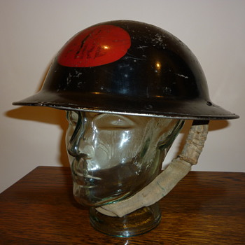 British WWII Factory Fire Brigade steel helmet