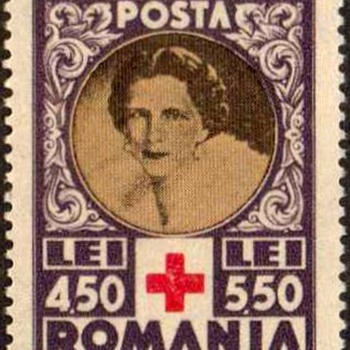 "1945 - Romania ""Queen Mother Helen"" Postage Stamps"