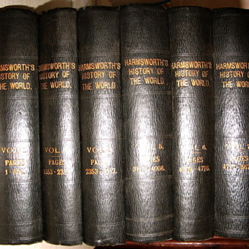 HARMSWORTH HISTORY OF THE WORLD VOLUMES  1 TO 6 - Books