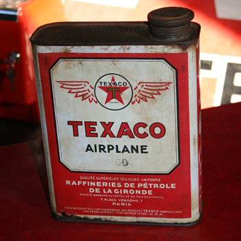 texaco airplane oil can - Petroliana