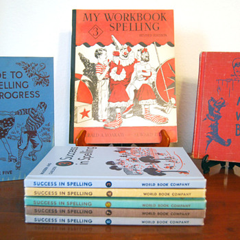 My Collection of Vintage Spelling Books