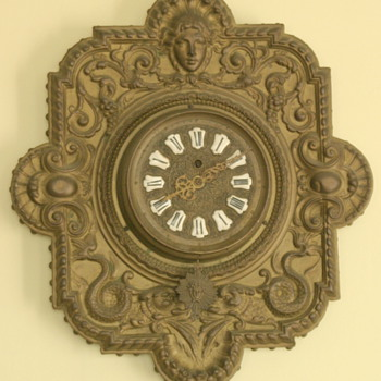 unusual looking antique French clock with Farcot movement