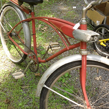 Is Pee Wee Herman missing his bike?  This was at a flea market...