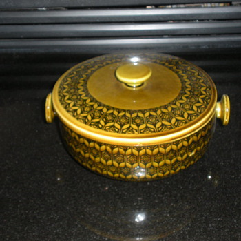 UNIQUE MID-CENTURY MODERN DISH WITH LID