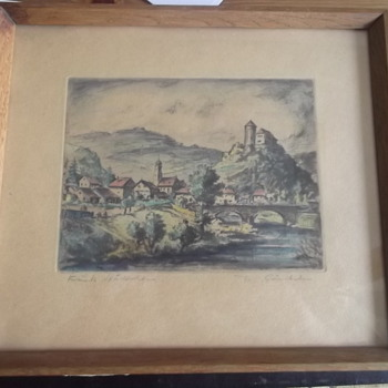 Vintage German Etching? - Posters and Prints