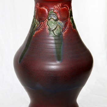 Rookwood Charles S. Todd Monumental Carved Matt Vase - Art Pottery