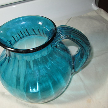 Handblown Glass Pitcher..Made by ??