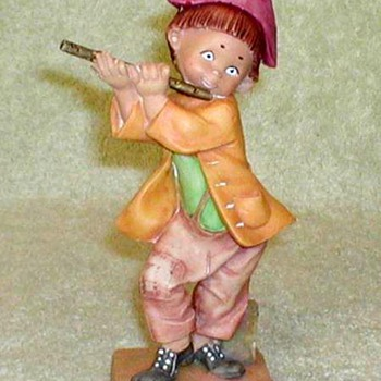Boy Playing Flute Figurine - Italy - Figurines