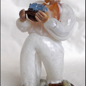 Bohemian Glass Waiter Figure Jaroslov Brychta  1955 - Art Glass