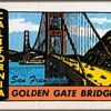 "Travel Sticker - ""Golden Gate Bridge"""