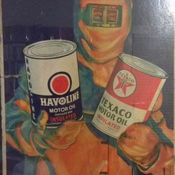 1940s (?) Texaco display poster.  - Petroliana