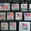 U.S. Vintage Postage Stamps - Flags  July 4th