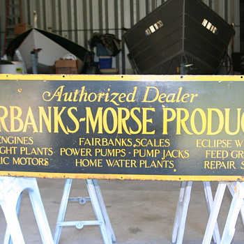 Fairbanks & Morse porcelain sign