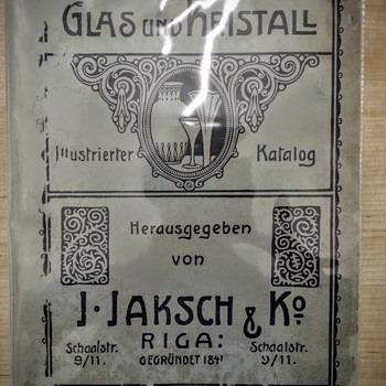 J.Jaksch & Ko, Riga 1910 - Art Glass