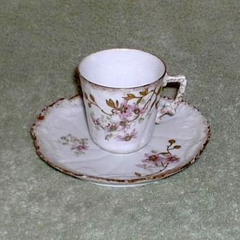 Limoges France Porcelain Demitasse Cup & Saucer