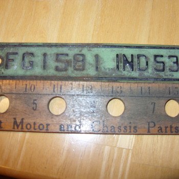 1953 indiana truck plates