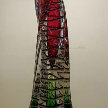 Art Glass Candle Stick Holder