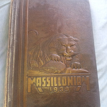 1939 Massillonian Yearbook with Paul Brown inside - Football