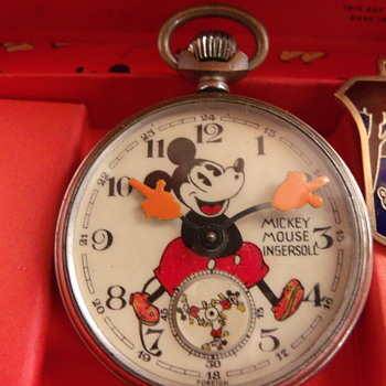 "First Issue ""English"" Mickey Mouse Pocket Watch"