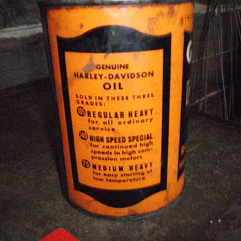 Full Harley Davidson Oil Can - Petroliana