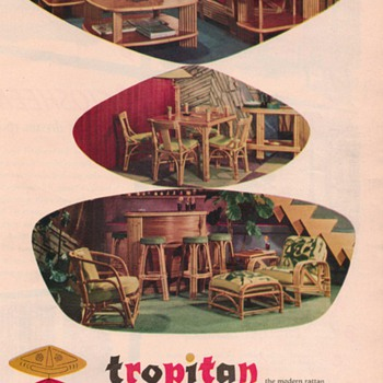 1950 Rattan Furniture Advertisements - Advertising