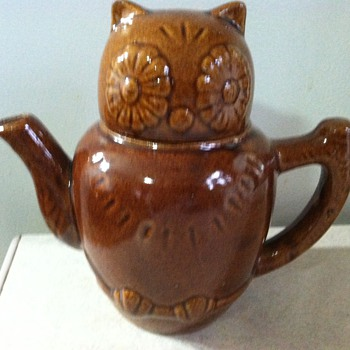 Owl Teapot - Art Pottery
