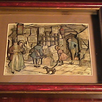 Anton Pieck 3D Vintage Print - Posters and Prints