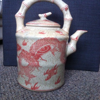 Dragon glazed Teapot