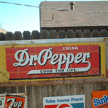 Large Dr Pepper sign - Signs