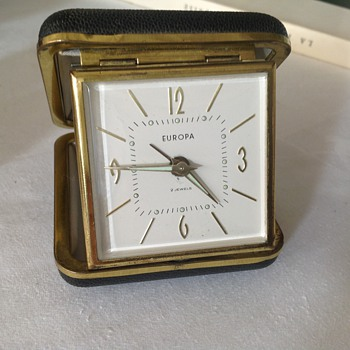 1950's German Europa travel alarm clock. - Clocks